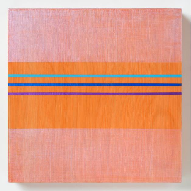 Rose Olson,  Cool Band , 2016.  acrylic on maple veneer  10 x 10 in.  $650