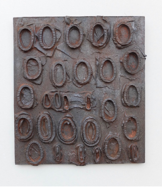 Kevin Weeden,  Anonymous Entomology , 2015.  cast iron  9 x 8 x 0.5 in.  $450
