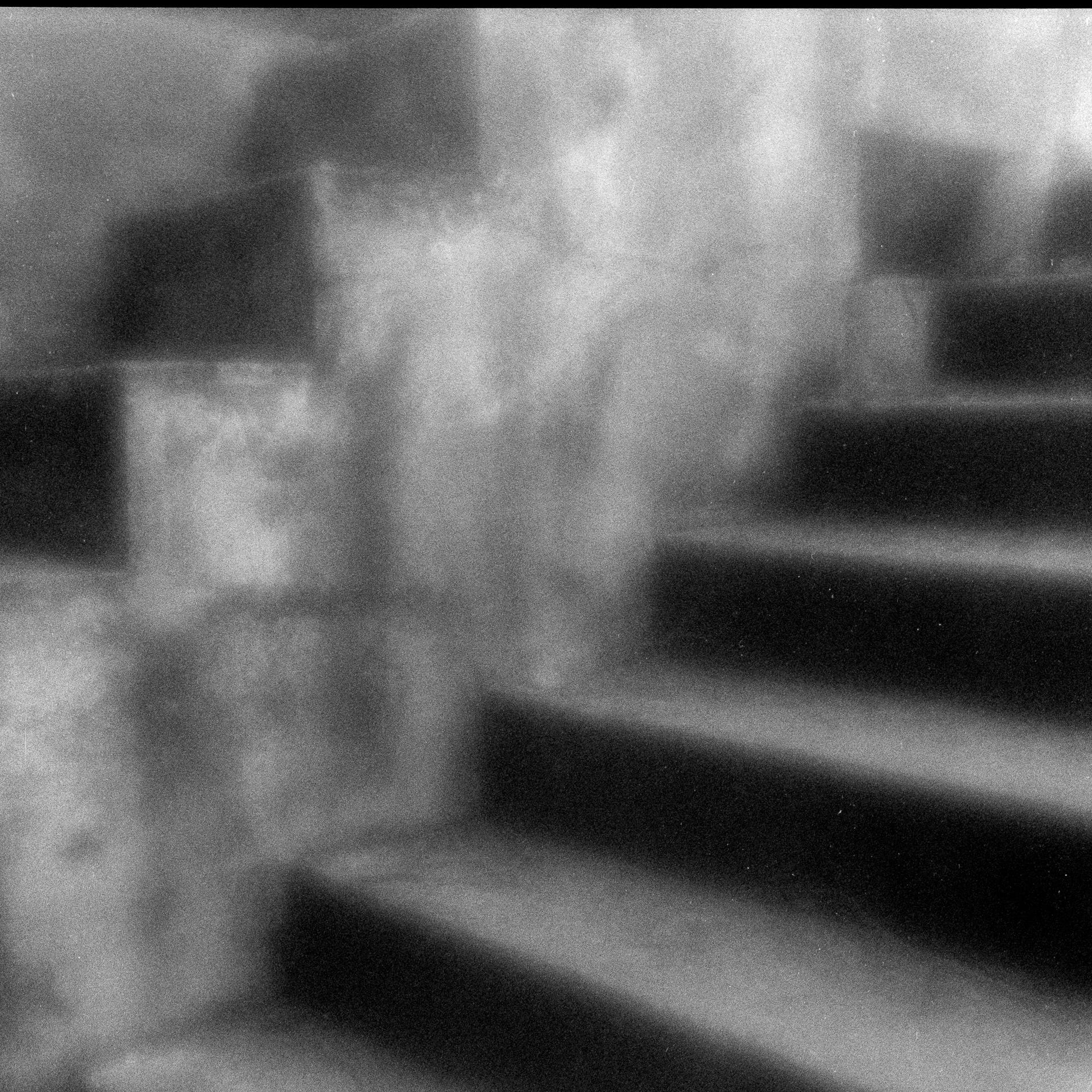 """Jane Alynn  """"Stairway,"""" 2015  zone plage image, gelatin silver print  Anacortes, WA  10""""x10""""x0""""  $350"""