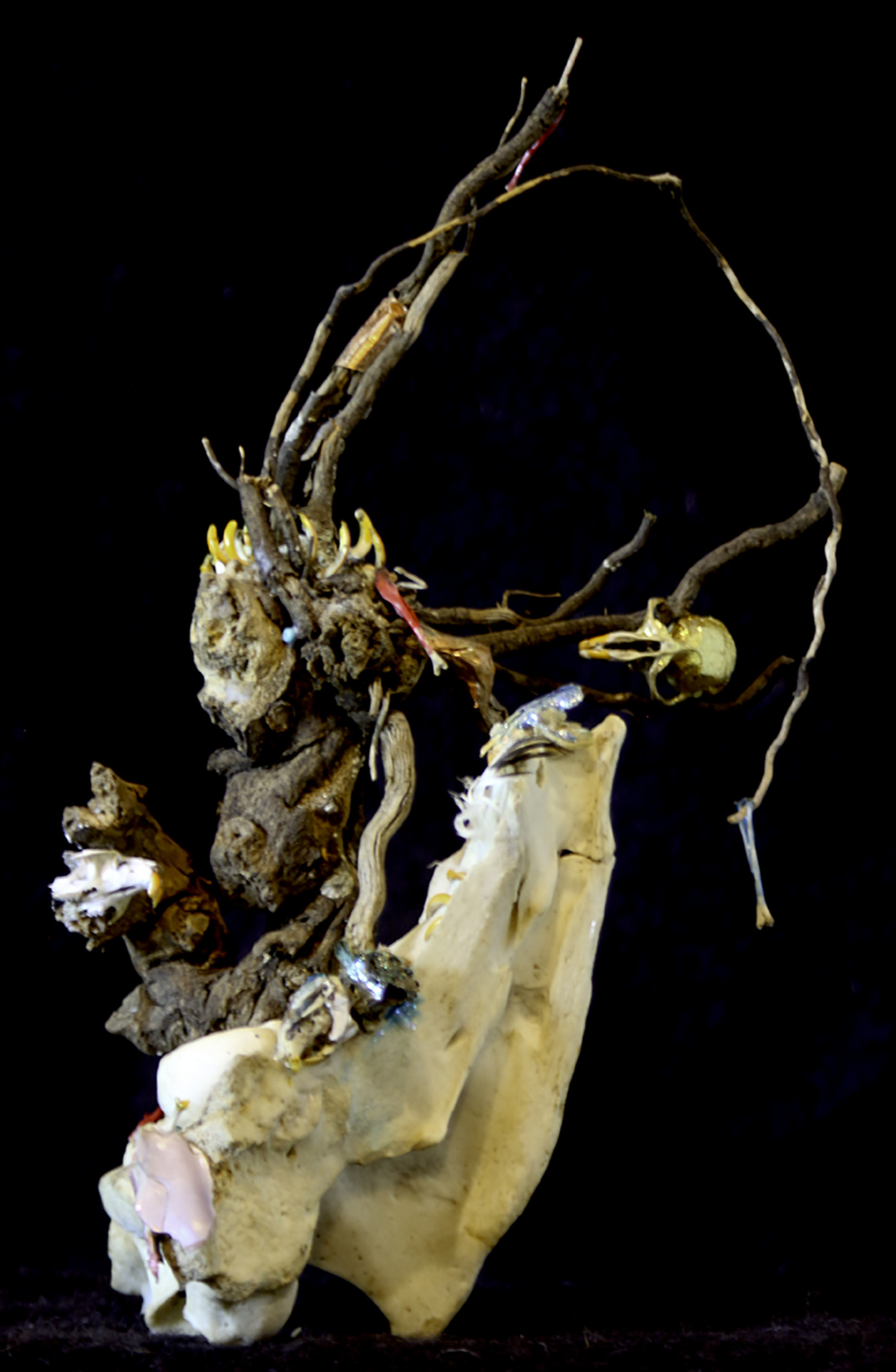 "Liz Snair  ""Gnarly 1,"" 2017  found object sculpture  Kent, WA  9""x6""x5""  $250"