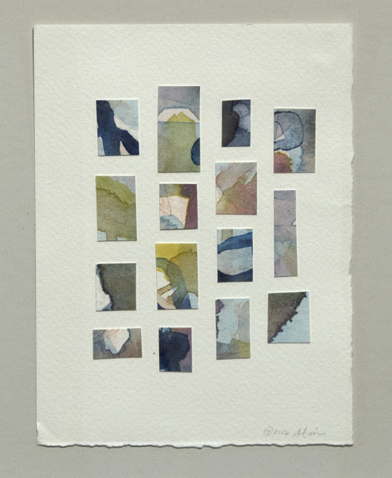"Ana Alvira  ""Terrains,"" 2016  watercolor/collage  Seattle, WA  6""x4.5""x0""  $500"
