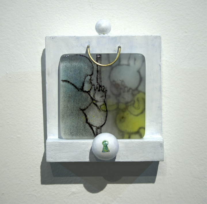 """Max Luo  """"ah.01,"""" 2017  glass  Fremont, CA  7""""x6""""x3""""  $120"""