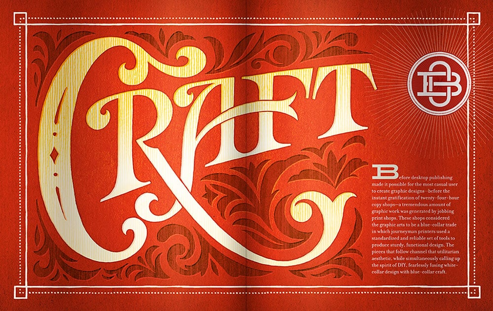 Type Spread from  Outside the Box.