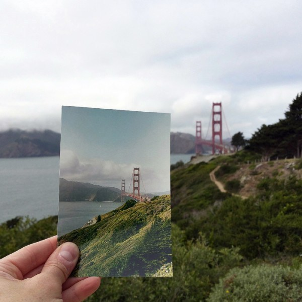 Golden Gate Bridge in San Francisco, California | April 1979 & May 2011