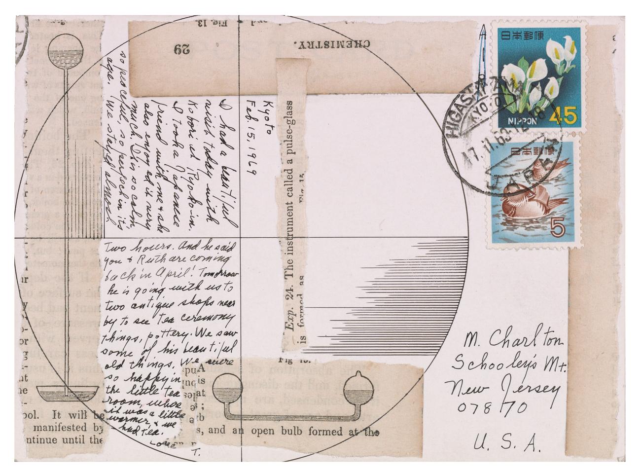 Lenore Tawney (141),postcard to Maryette Charlton, February 15,1969