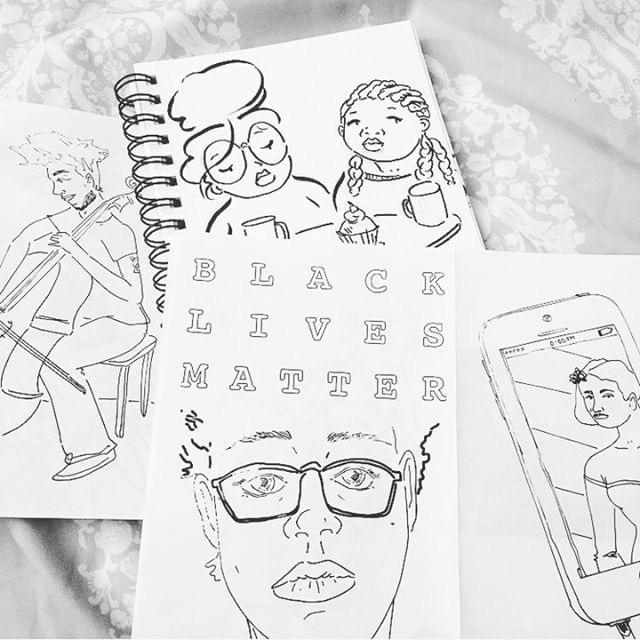 sketches from @blkgrls  wurld_zine (more at blkg  rlswurld  .com)