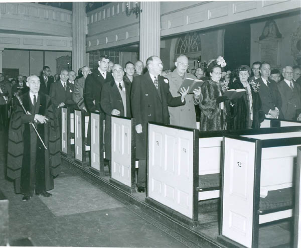 1948 - General Eisenhower at Christ Church