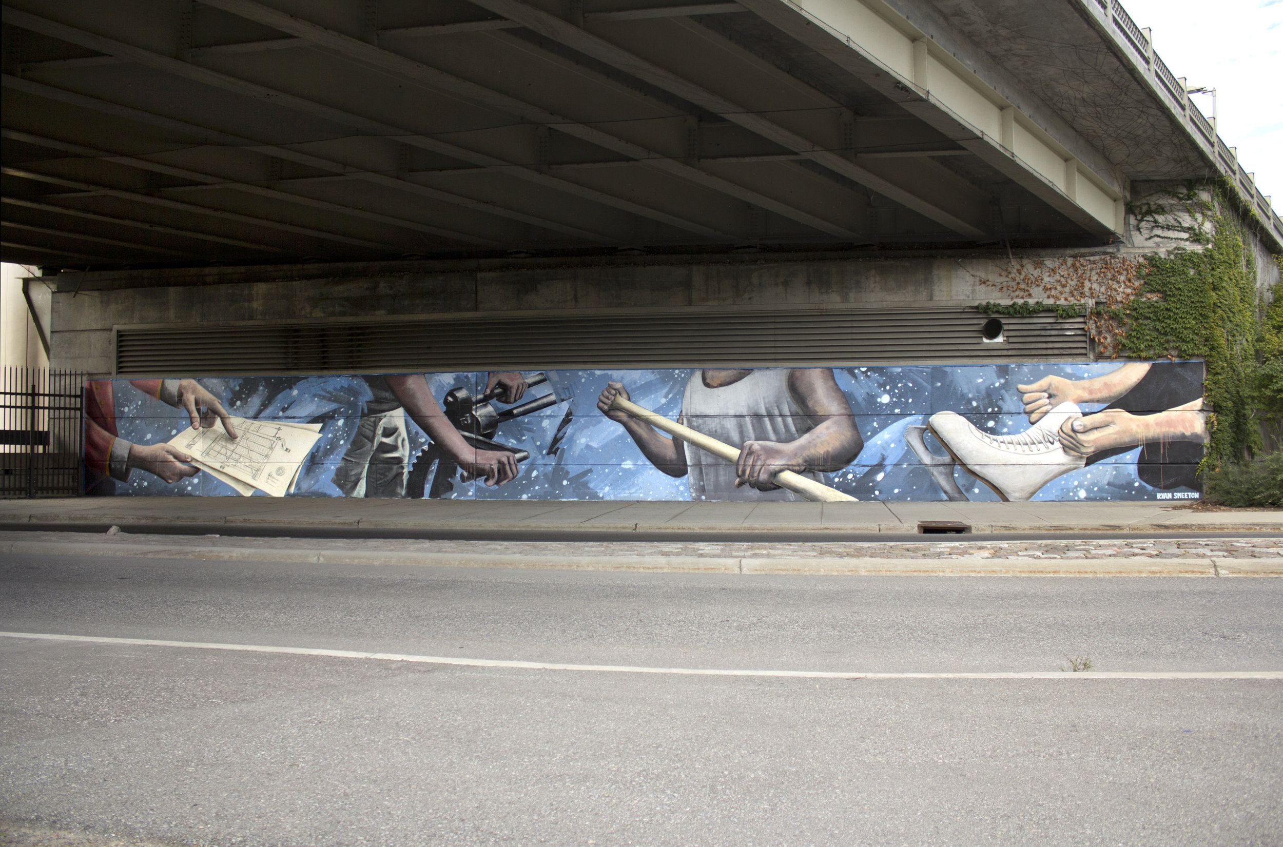 Mural for the City of Ottawa Underpass Program
