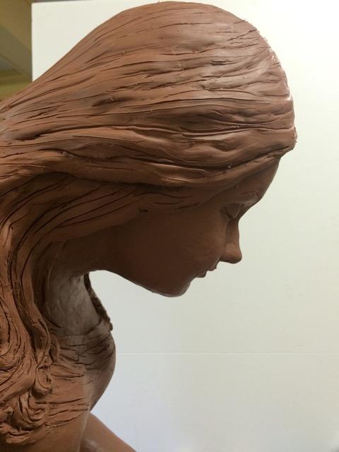 Clay sculpture in progress