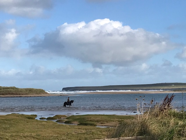 Obviously drawn to this landscape with sandy beaches and a little hint of green grass. The man and his horse was magical.