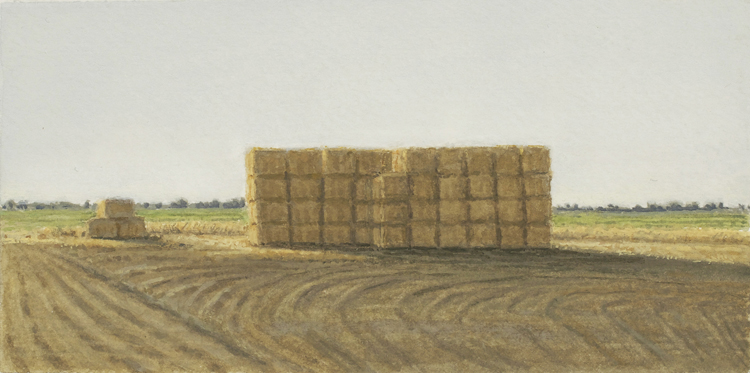 Evening/Stacked Hay, 2014