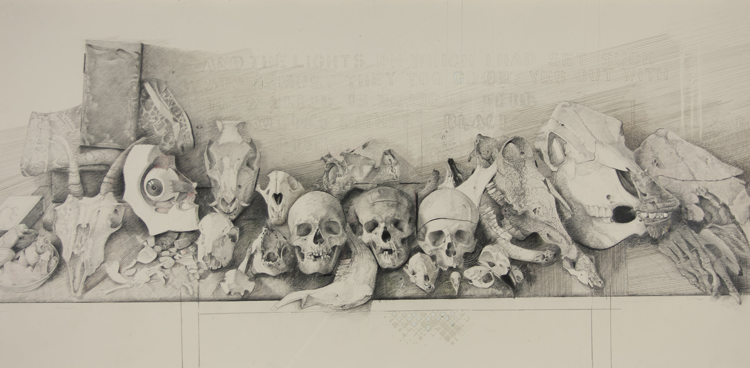 Skulls , c. 1989, JULES KIRSCHENBAUM, Museum purchase. 2009.002
