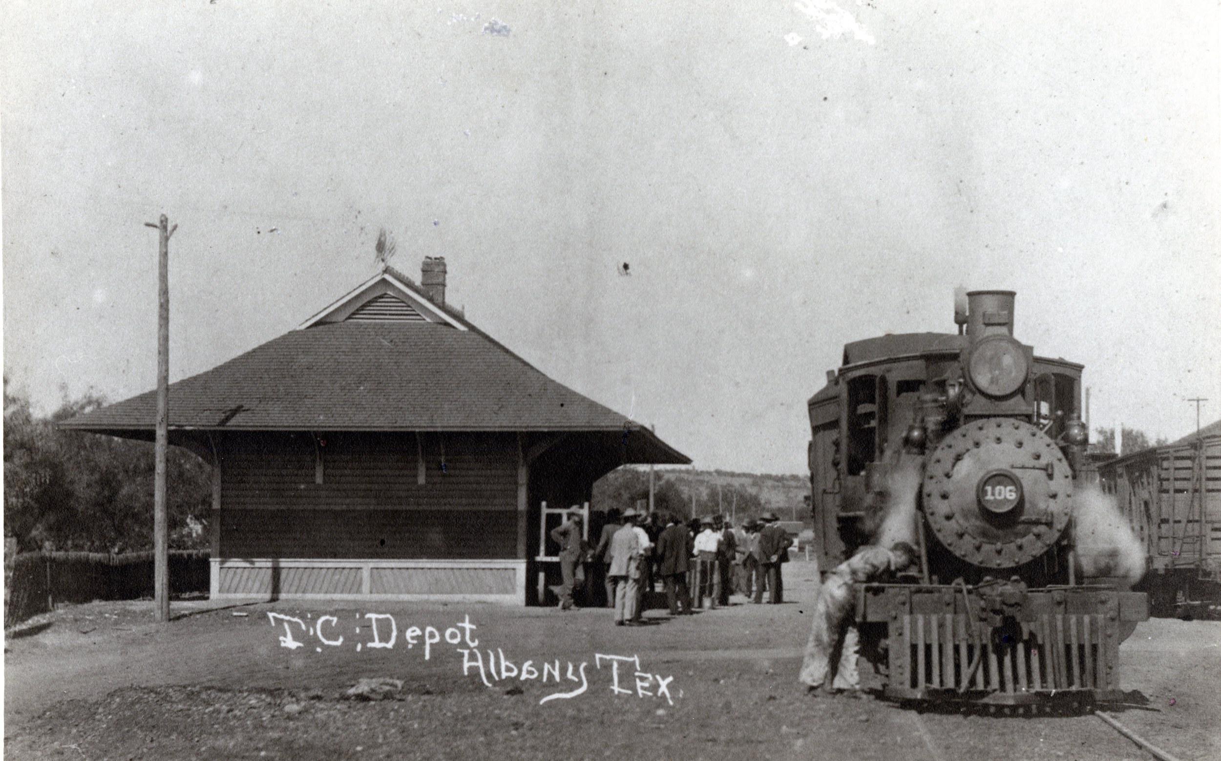 Texas Central Depot, East side, Albany TX, Undated.jpg