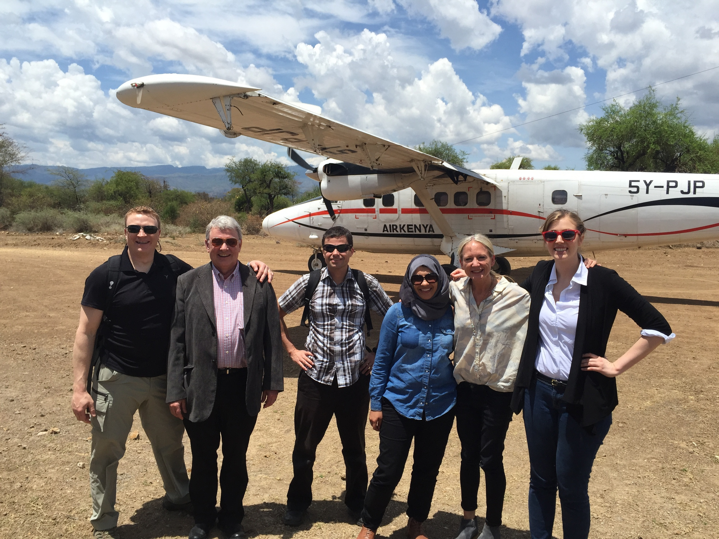 Arriving off the bush plane from Nairobi on the Fluorspar air strip