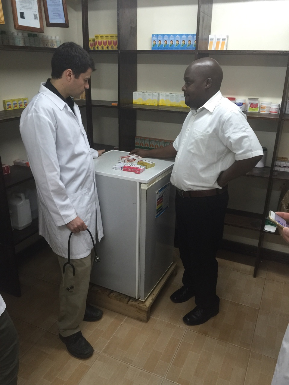 Dr. Hawkes in the Fluorspar pharmacy