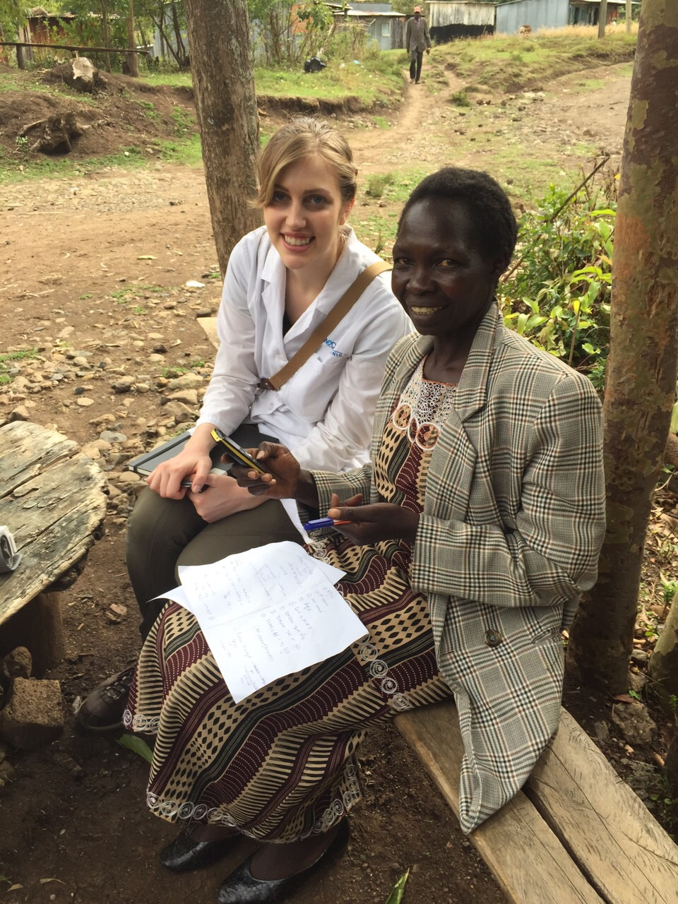 Jennifer with the community health worker
