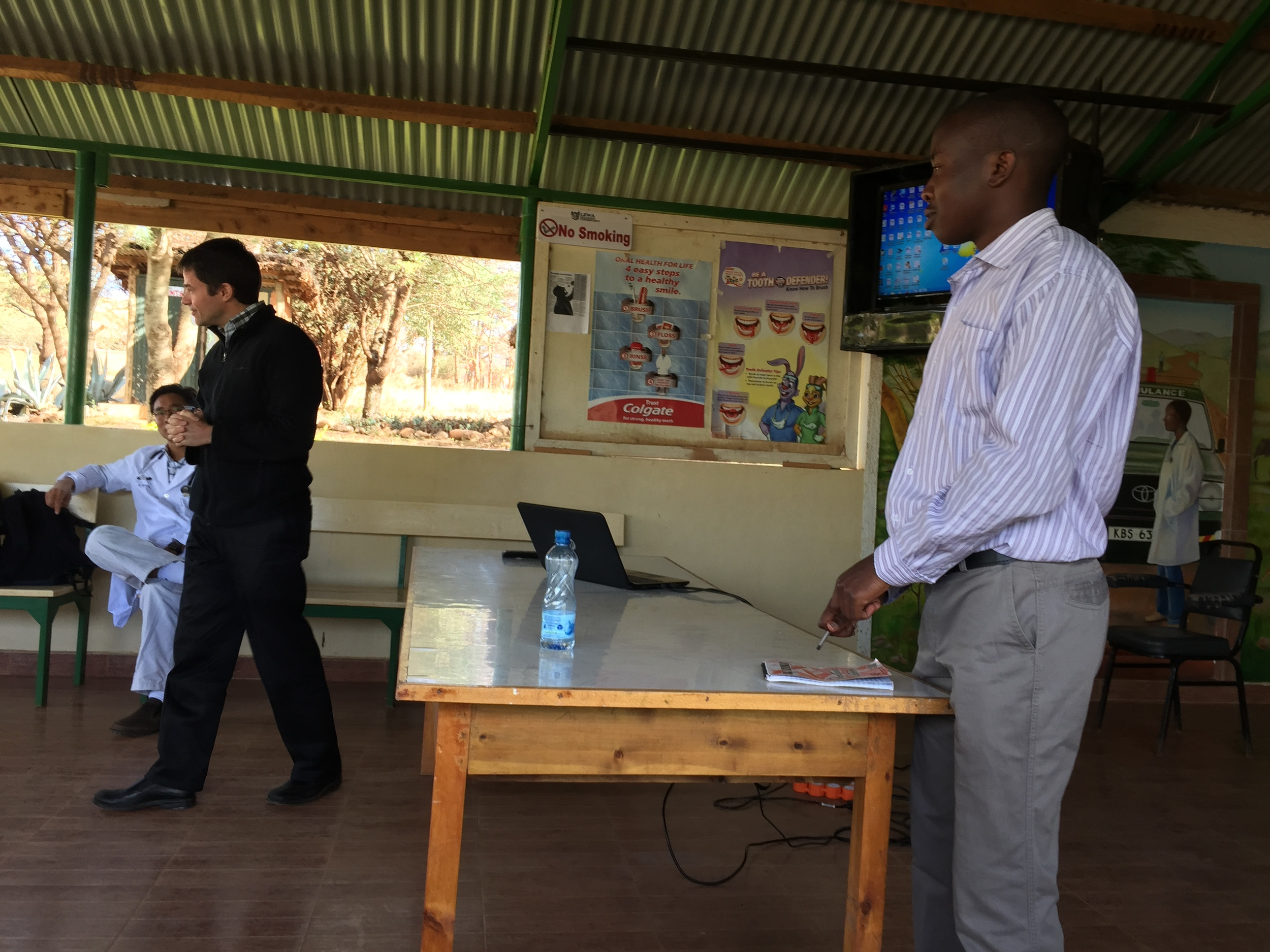 Dr. Michael and John conducting a talk on HIV together.