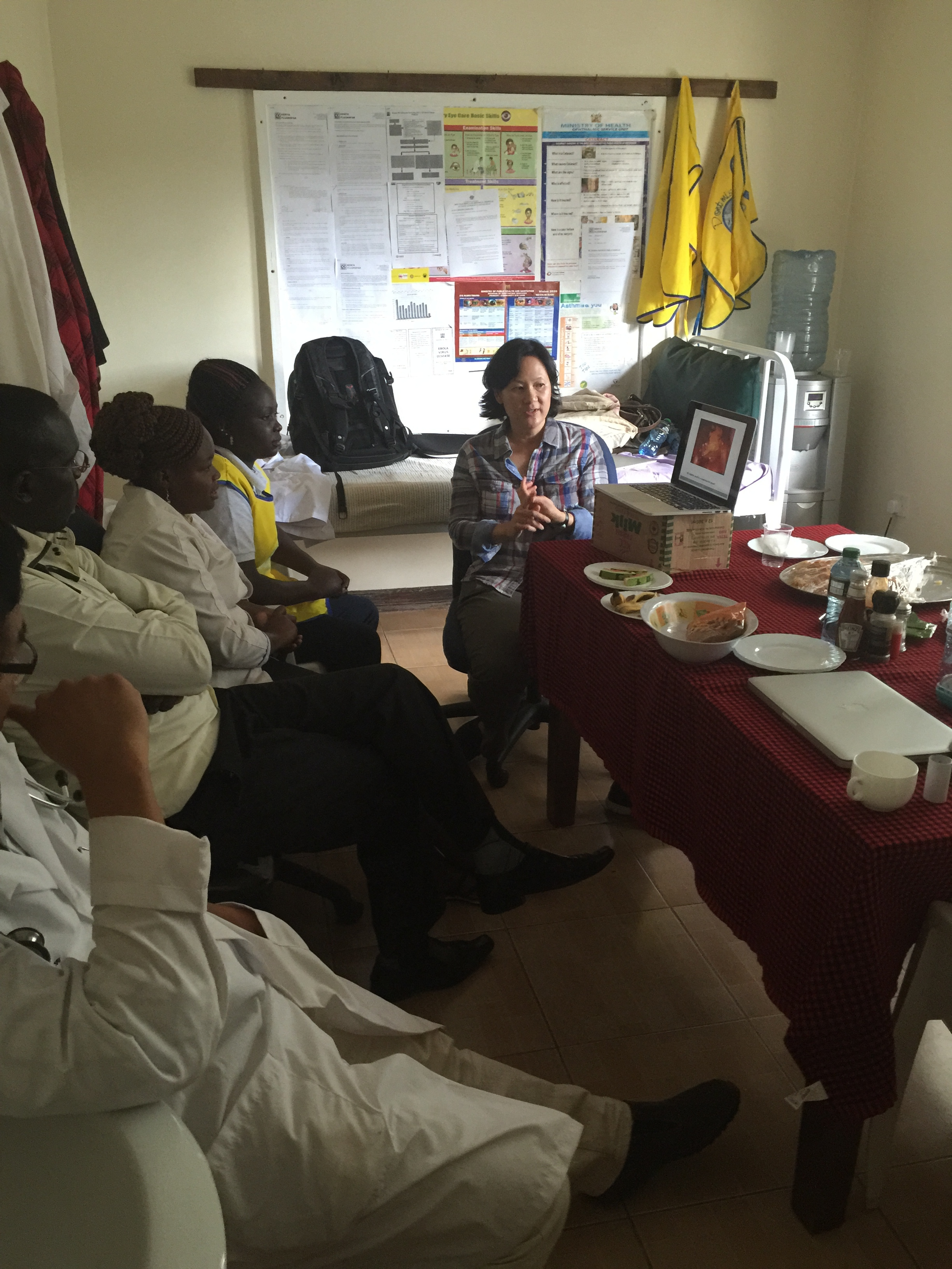 Dr. Sue teaching a class on cervical cancer screening.