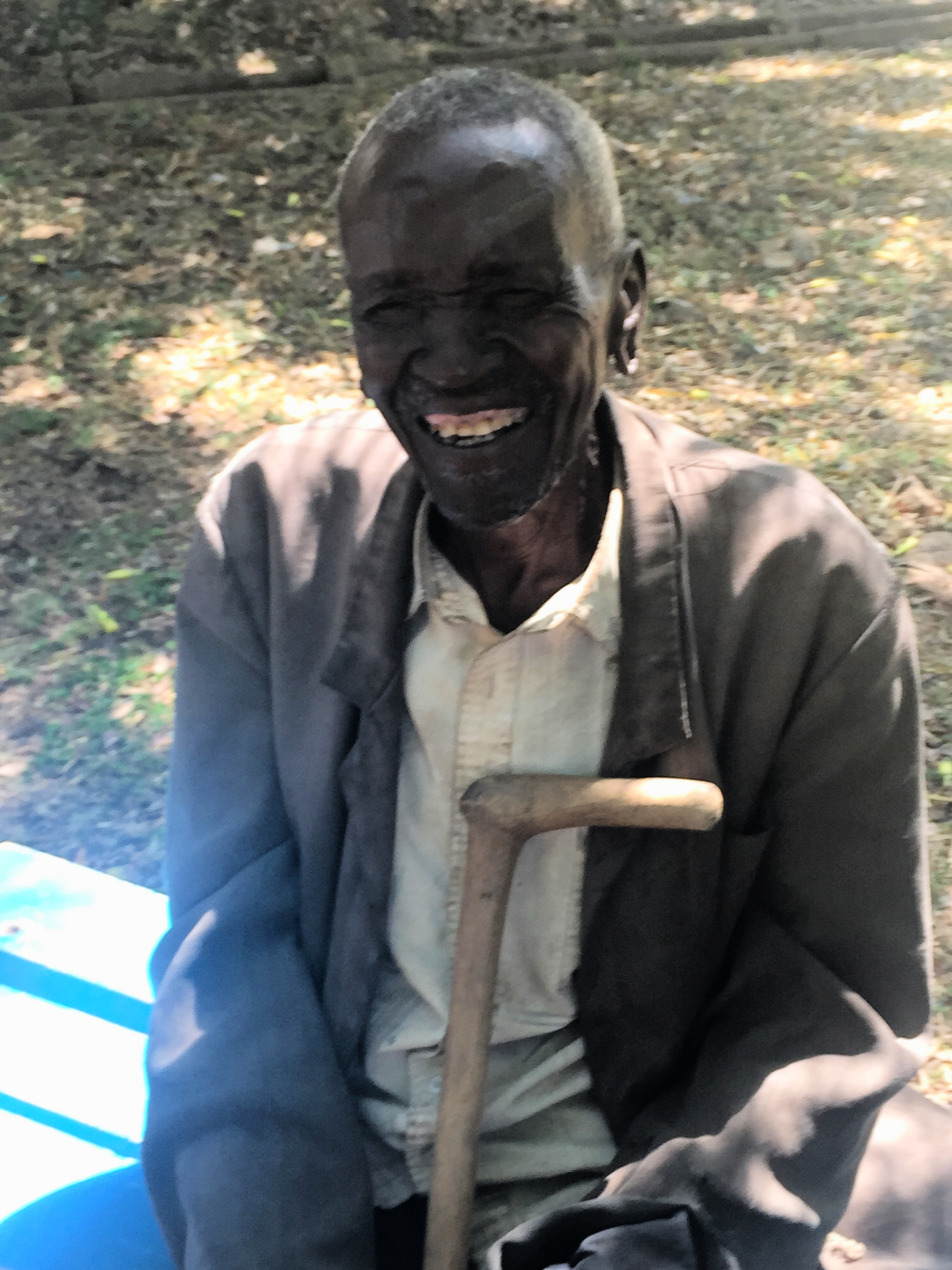The cataract patient who said he could see a mzungu when his patch was removed.