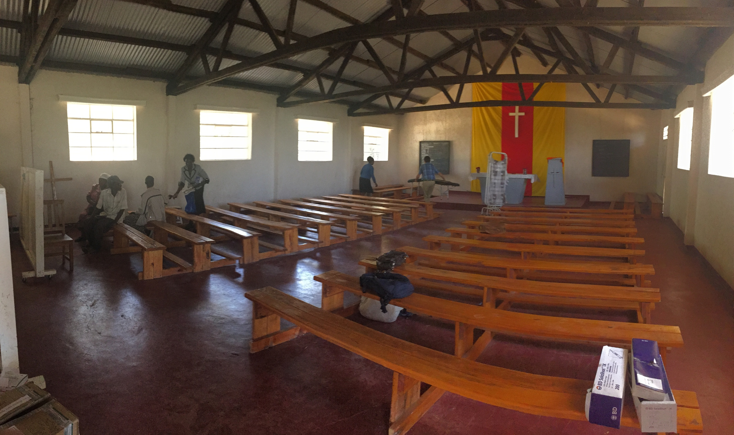 The location of the outreach is in a church.