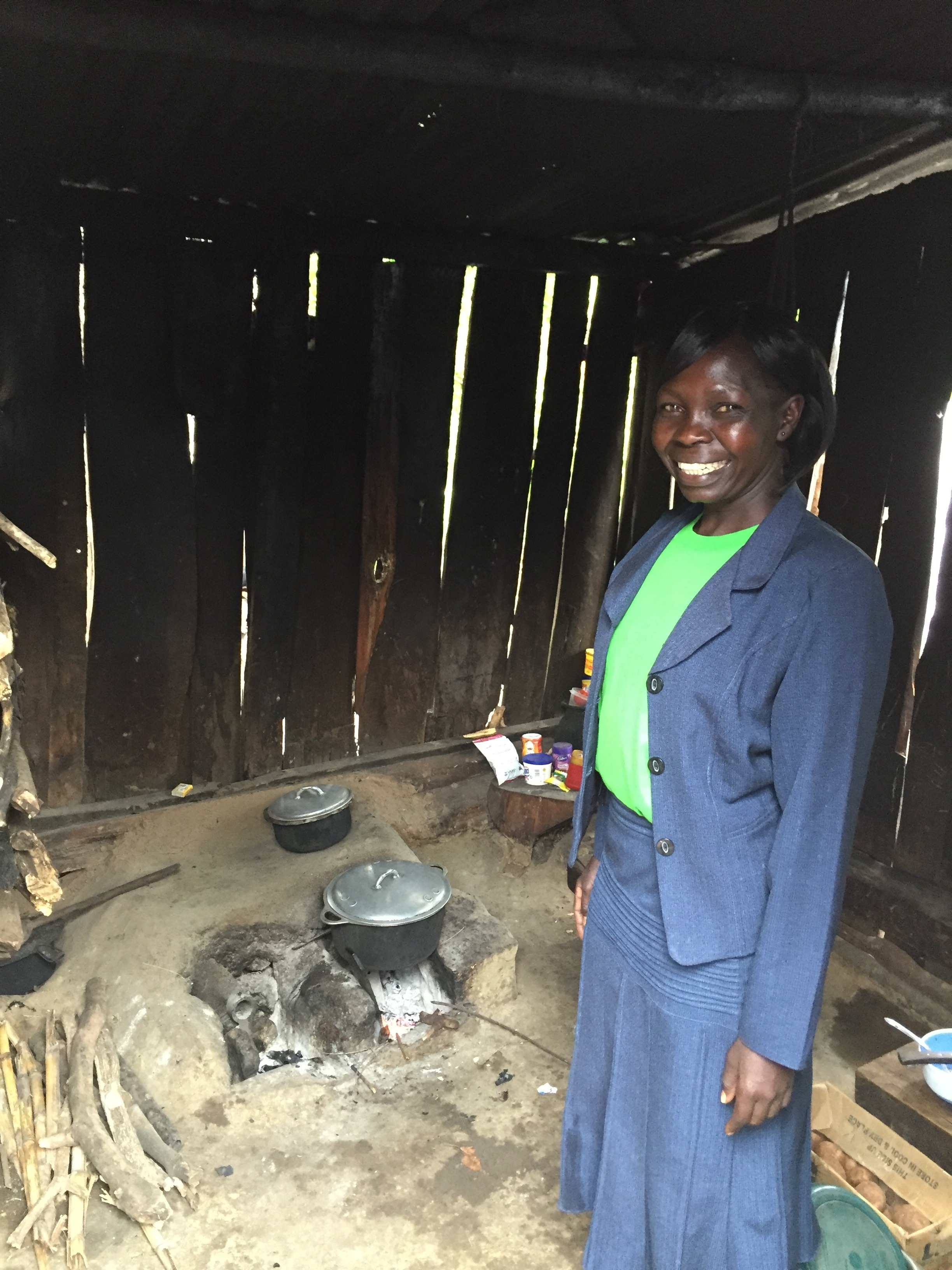 Helen, the community health worker extraordinaire in Simit. Showing us her kitchen where she prepared the masala tea and mandazi