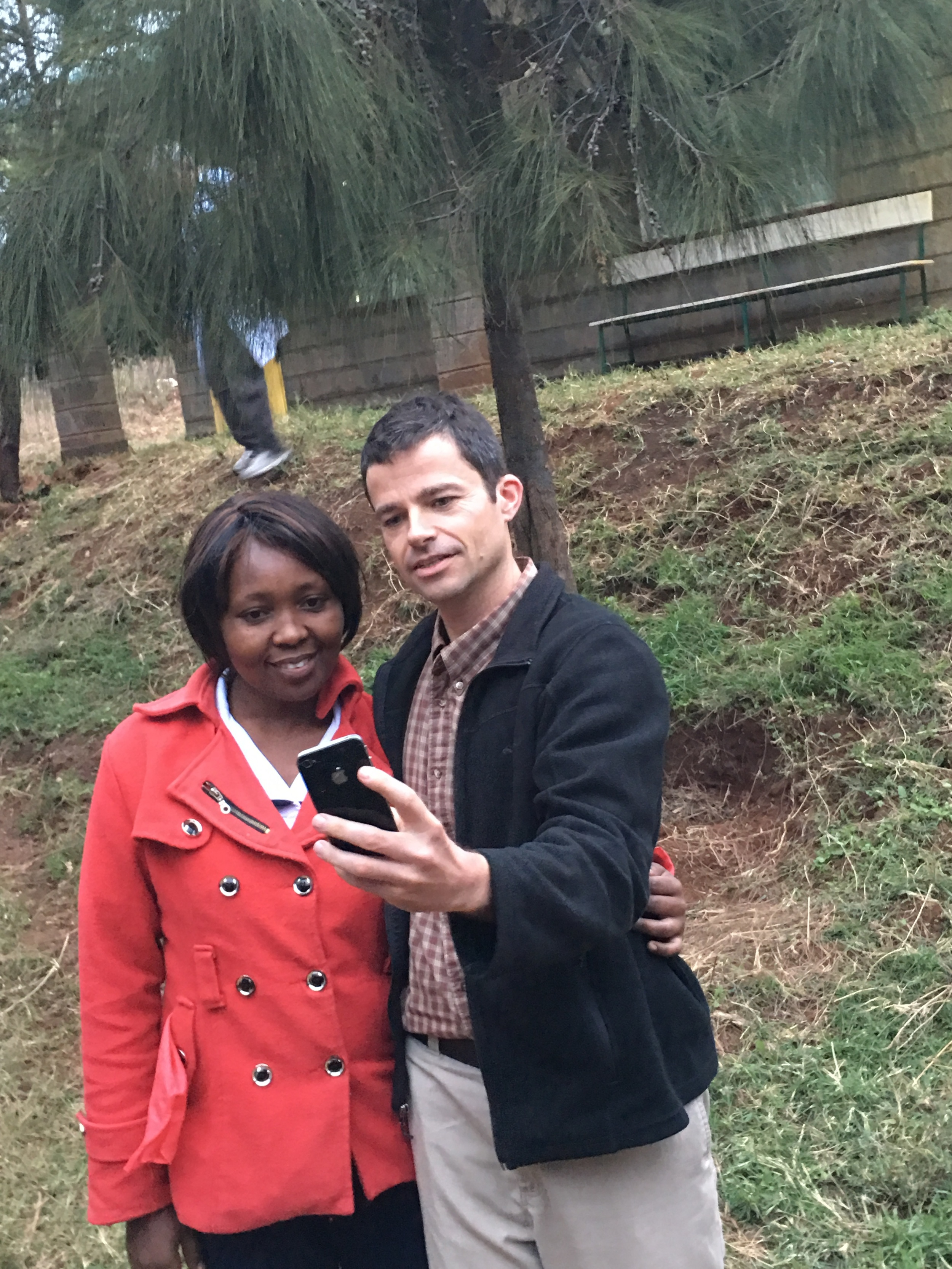 Dr. Michael and Selfine taking a selfie!