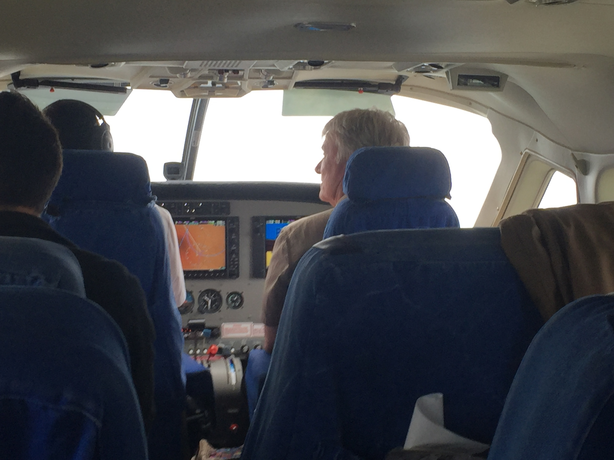 Our very own Dr. Ed (I've nicknamed him Maverick) co-piloting our flight back to Nairobi. Nice to have someone on the team that could actually fly the plane if need be :)