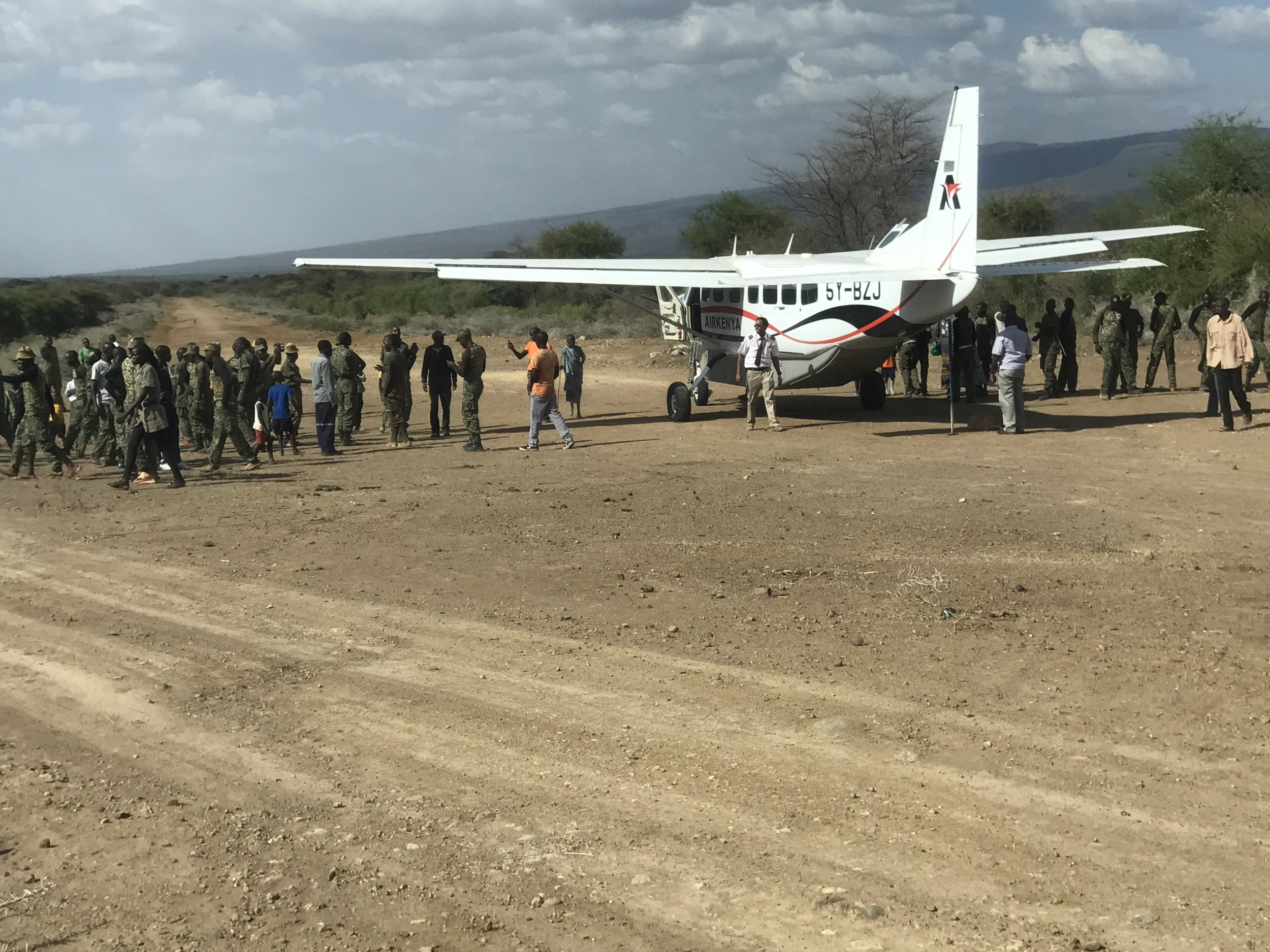 The Kenyans seeing us off at the plane.