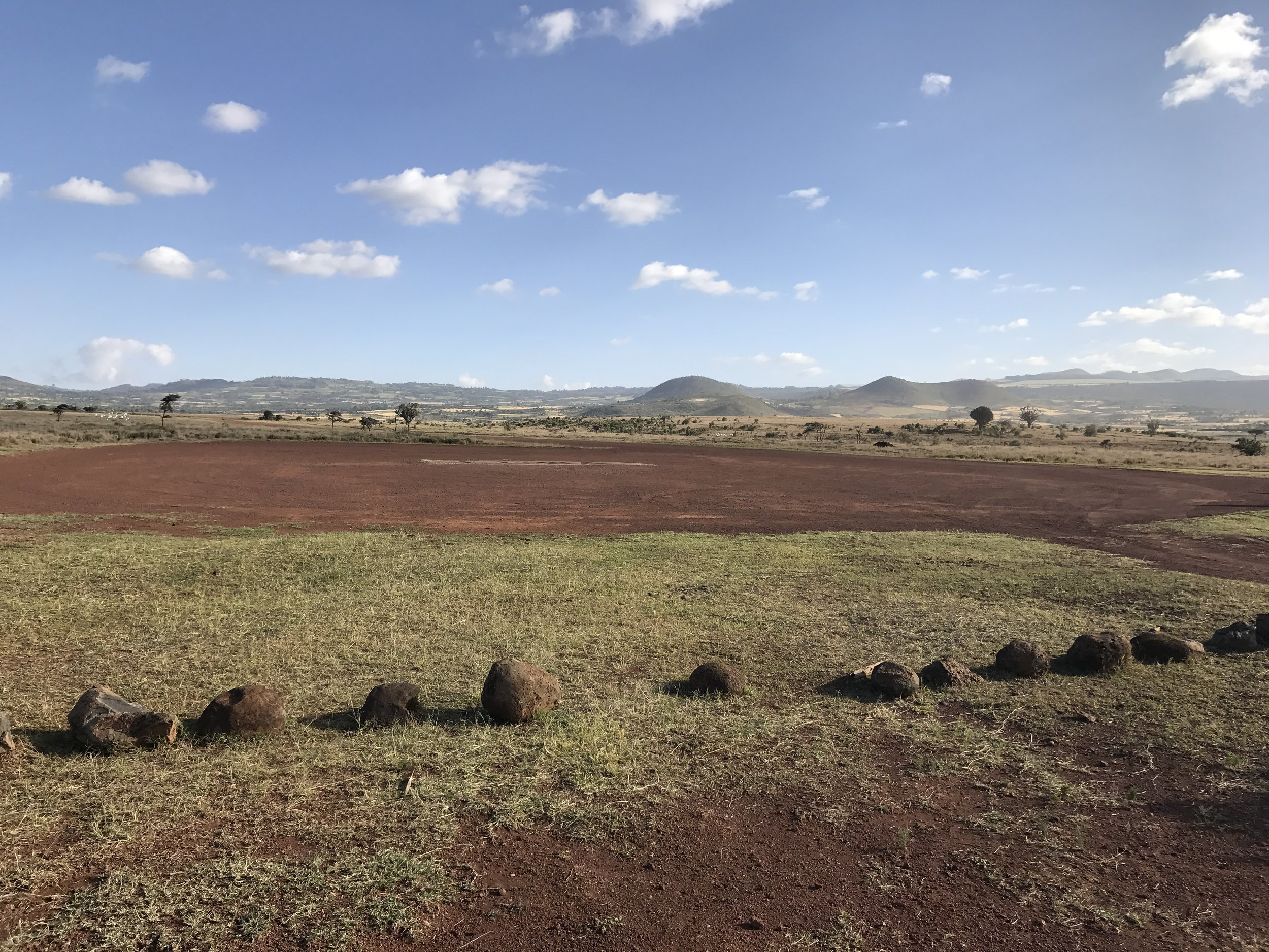 The scene stepping off of the plan at Lewa Downs.