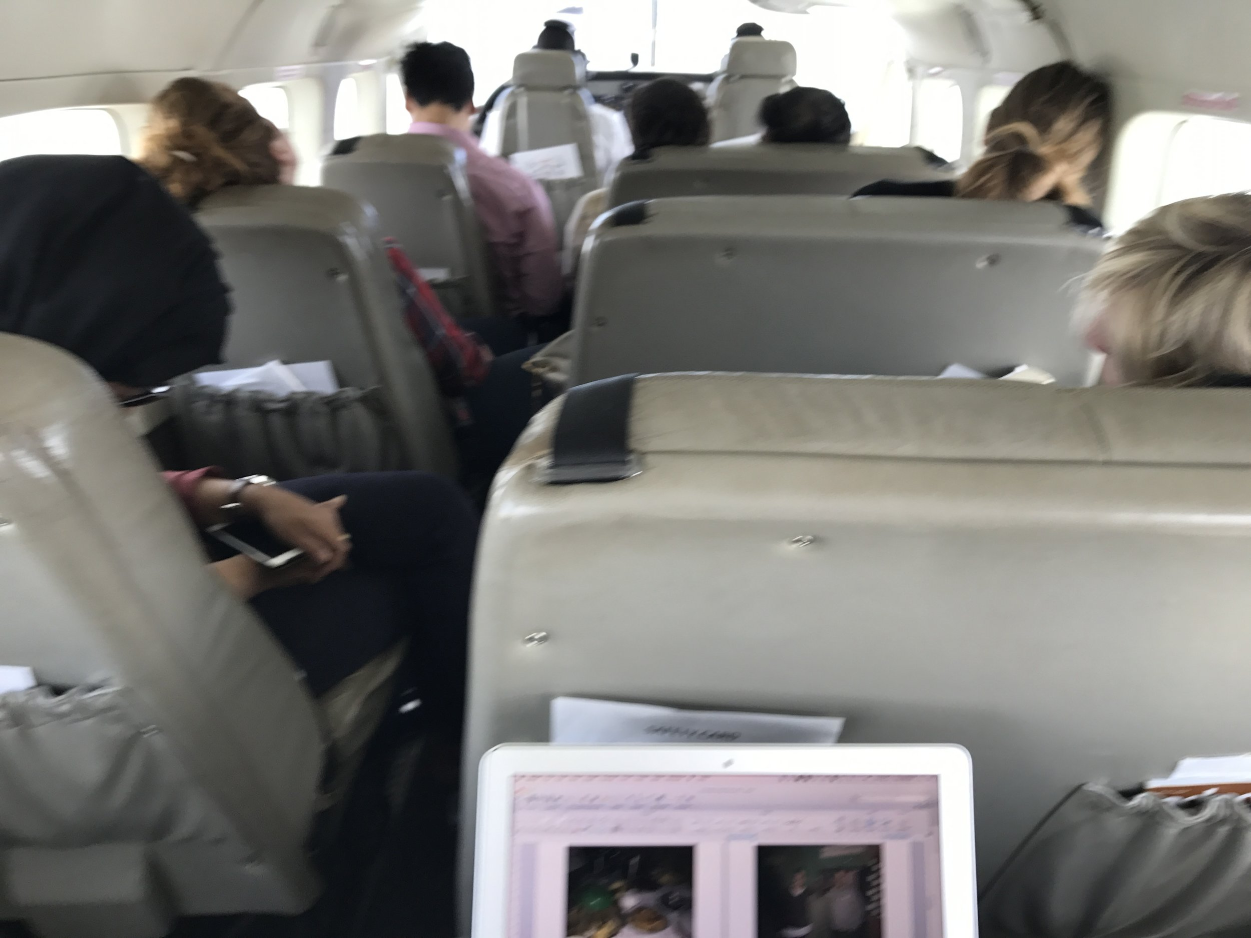 Our final charter flight back to Nairobi. Everyone passed out, except for (I hope) the pilots! Thanks for all of the hard work team! You have about 4 months to recover until the next one!