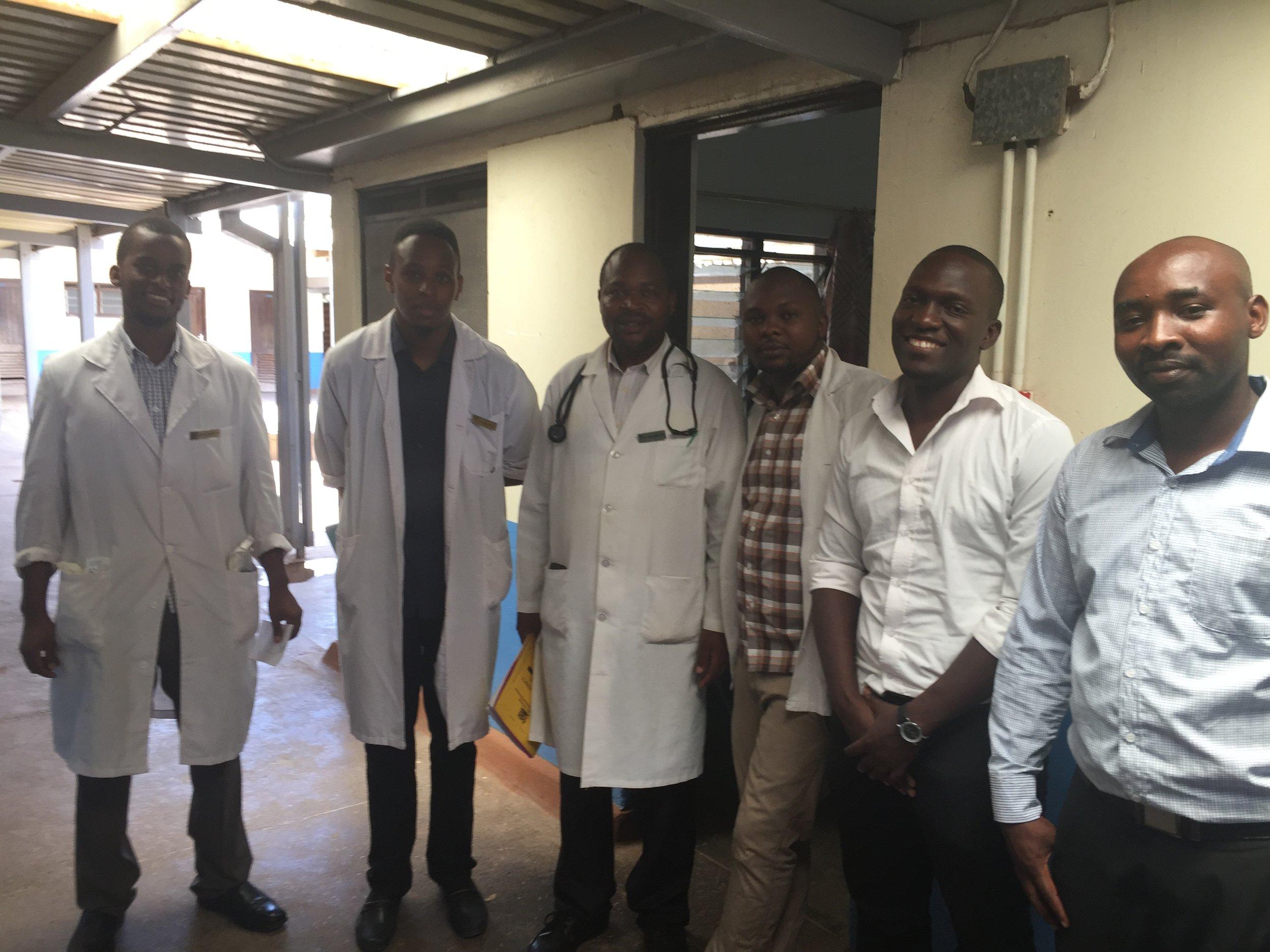 Dr. Mark Muriithi, Dr. Magara Marvin, Dr. Kimru Kimathi G, Hagai,