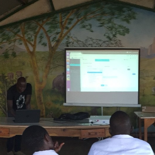 Dante explains the app that will make it easier for community health workers and clinicians to collect and track data