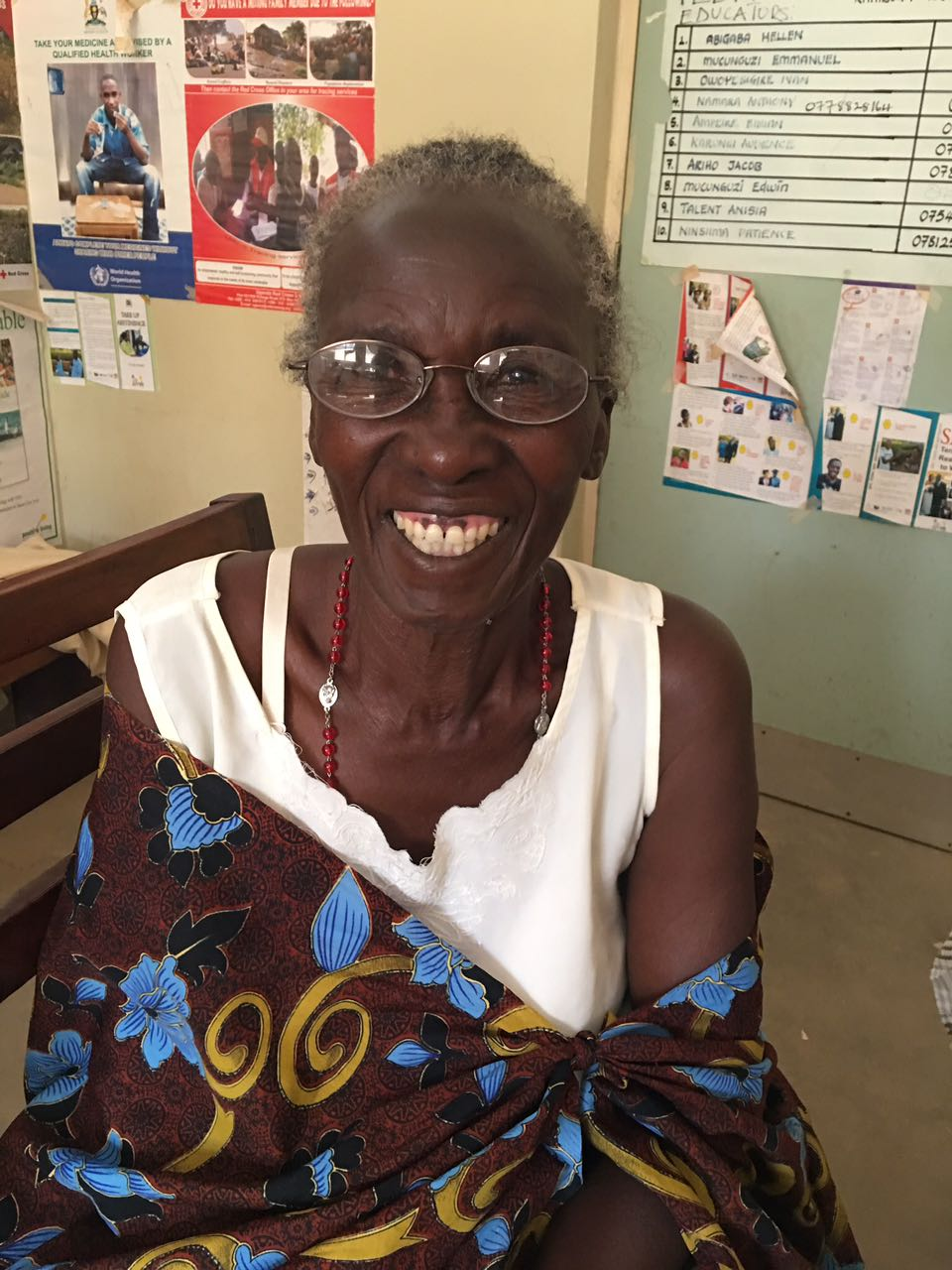 Big smiles from a patient after a vision test led to the right prescription and new glasses