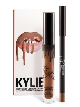 """Kylie Lip Kit in """"Brown Sugar"""", $29"""