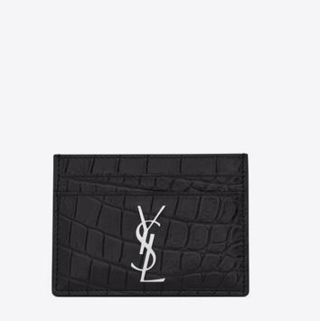Saint Laurent Monogram Cardholder, $389
