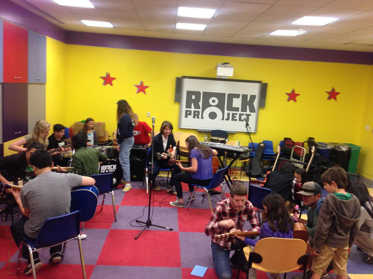 SFRP's House Band giving FREE lessons to the Public at the SF Public Library's main branch.