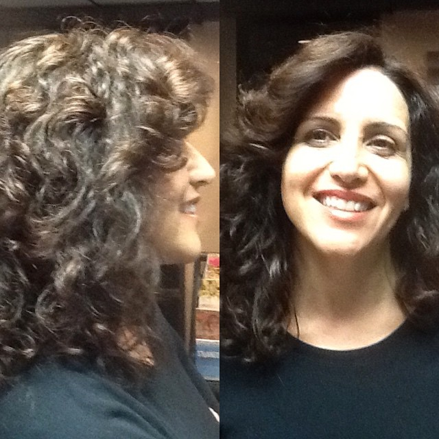 Lovely curly cut by Heather.