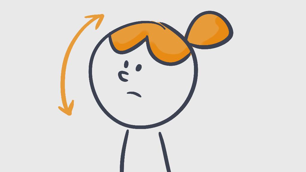 character nodding head
