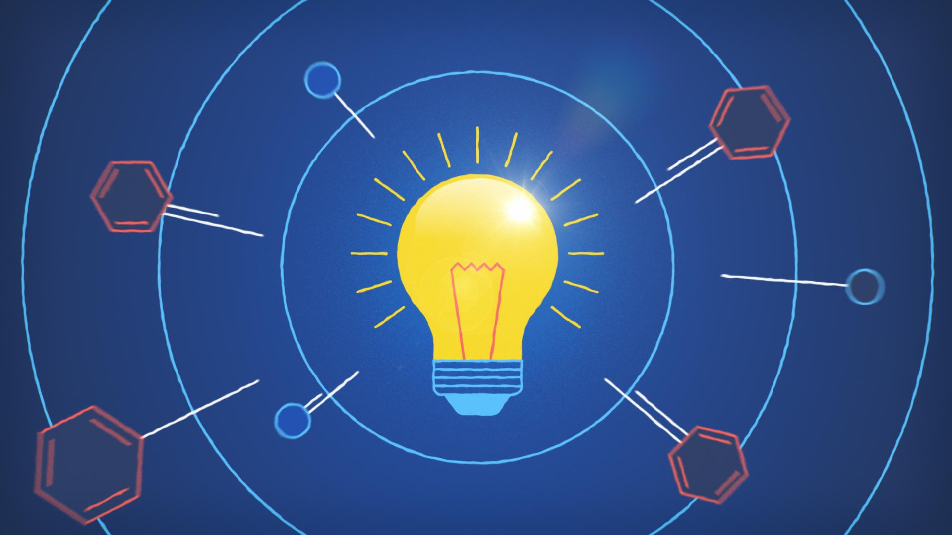 light bulb chemical reaction