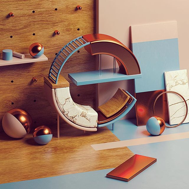 Ee After yesterday's attack of the noise I thought I'd try a single area light for this shot, not even an HRDI. So much easier to manage 👍  #36daysoftype #36daysoftype-e #cinema4d #redshift #typography #type #c4d #maxon #noob #artsy #artsagram