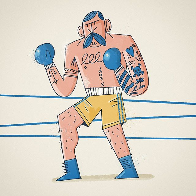 Come at me, Brother! . . . . . #sketch #illustration #art #artsy #adobe #photoshop #drawing #doodle #digitalart #instaart #boxing #mograph #inktober