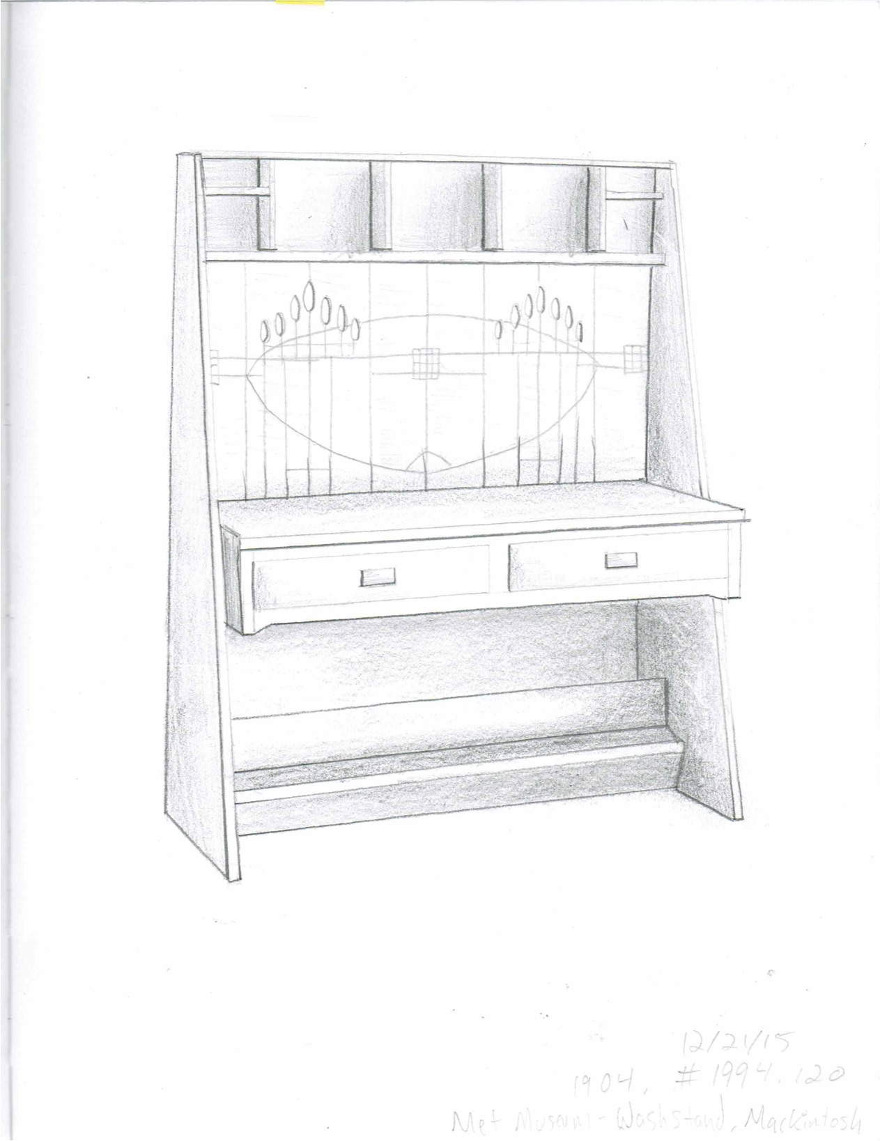 Art Deco Hutch Sketch