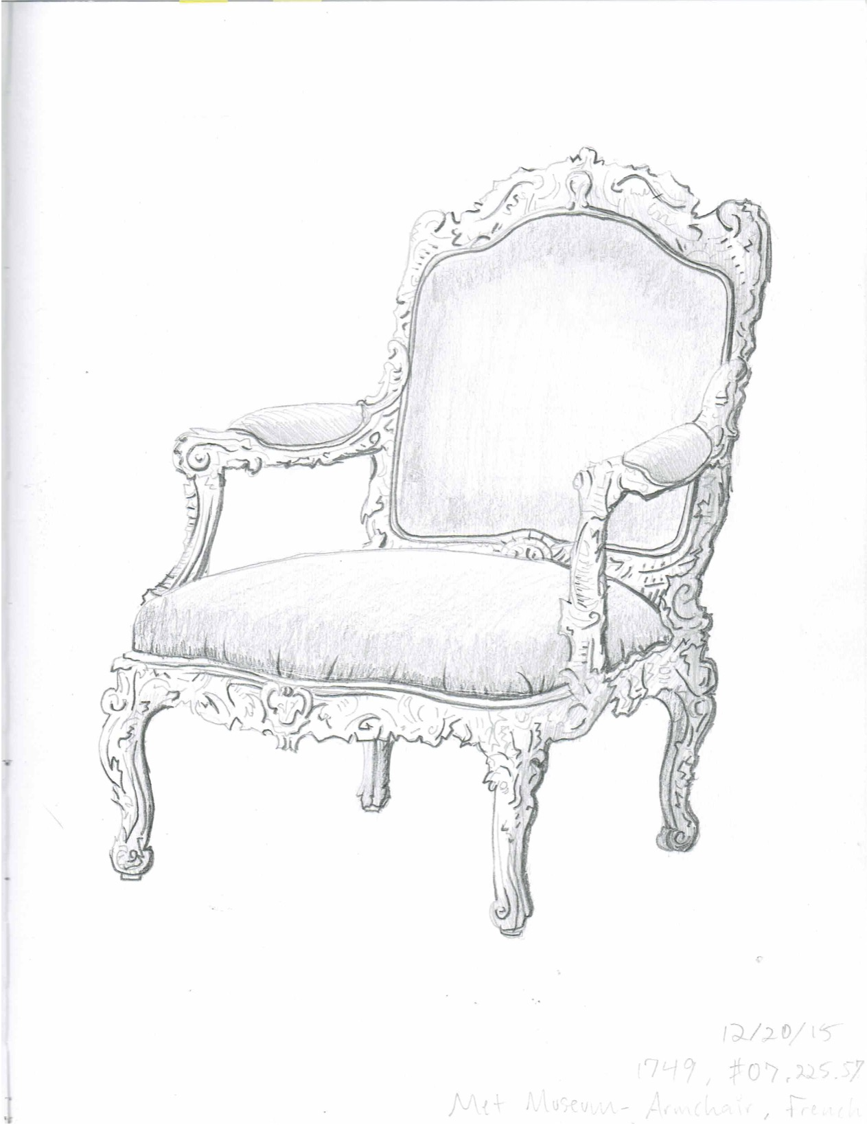 Arm Chair Sketch