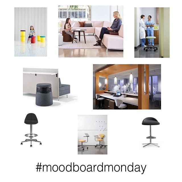 Stools for healthcare spaces: work and play!