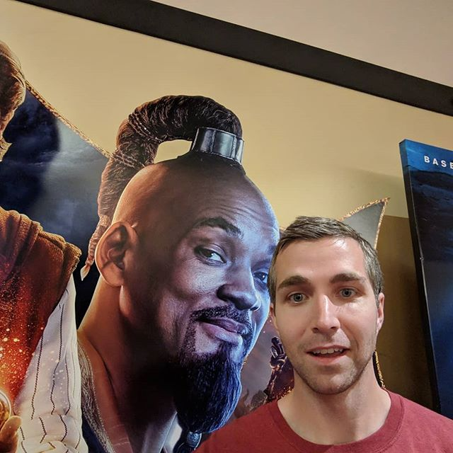 Movie posters are magical.  #Movies #AMC #Aladdin #Shazam #Penguins #Breakthrough #BreakthroughMovie #StephCurry #Selfie #Me #Hot #TheRock #Cat #Dog #WillSmith