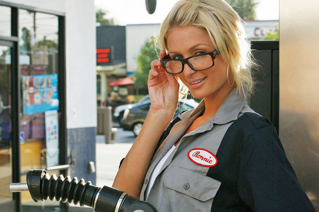 Paris Hilton gas station attendant