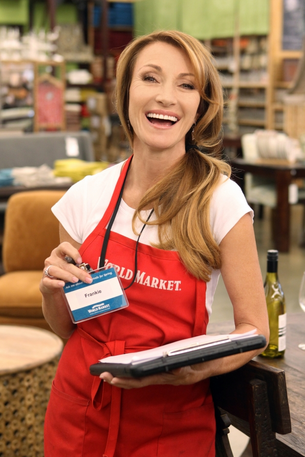 Jane Seymour employee at World Market