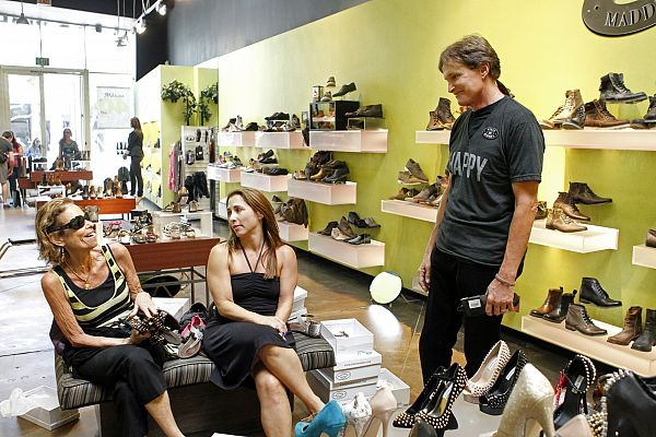 Bruce Jenner selling women shoes