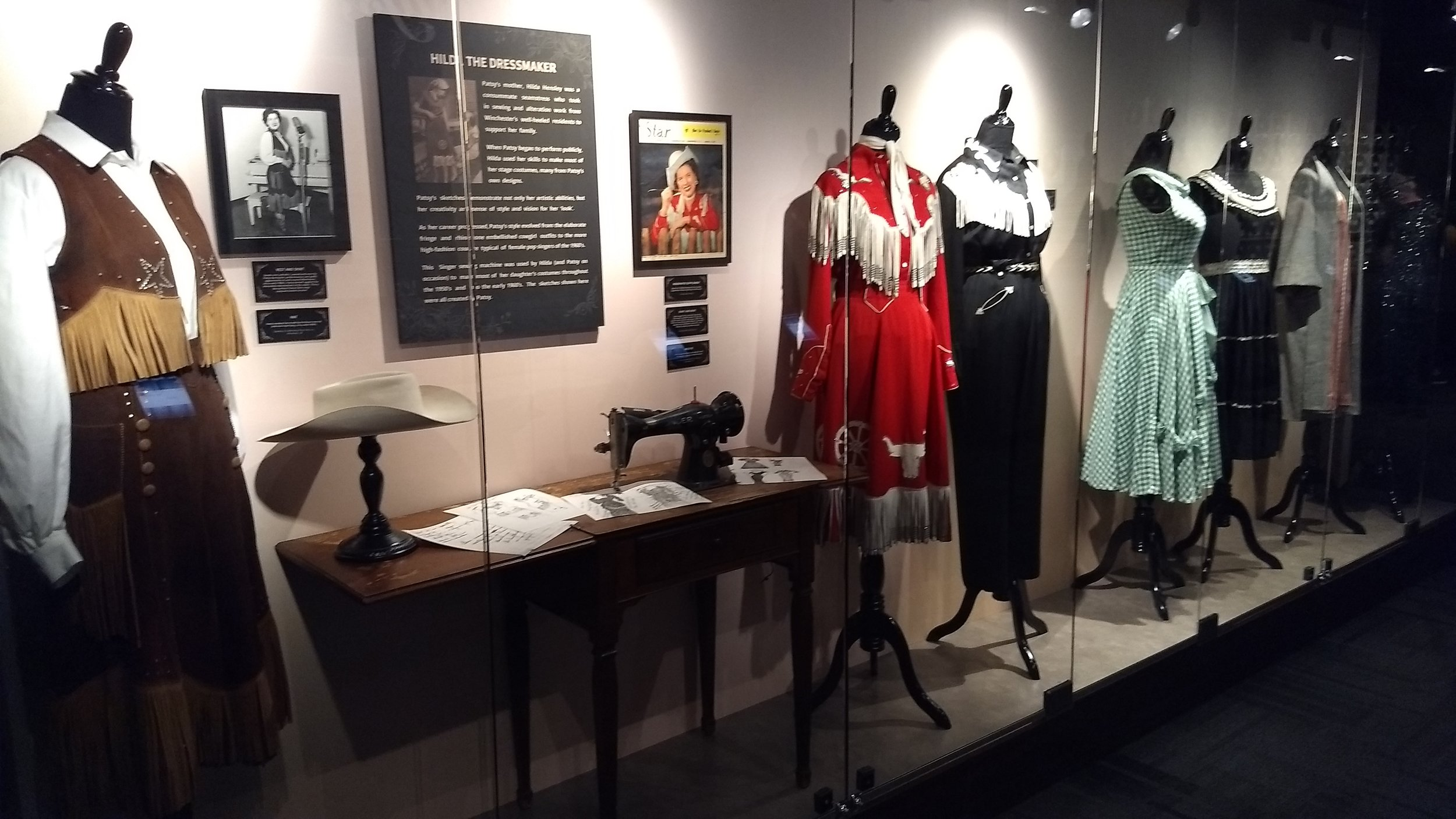 Patsy Cline's mother Hilda was a seamstress. She made all of Patsy's performance outfits throughout her career.