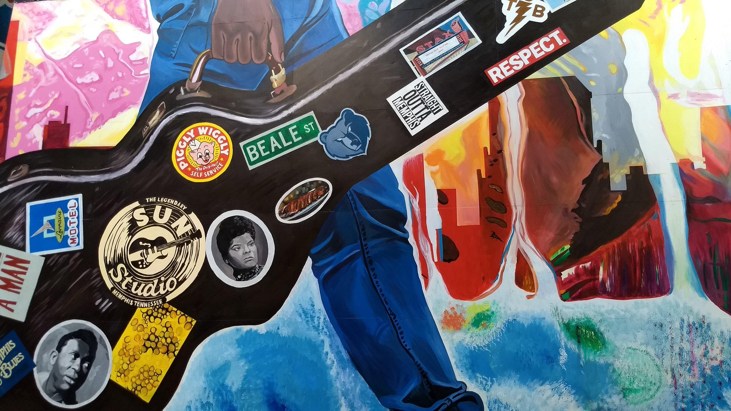 Downtown Memphis mural